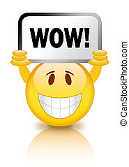 Wow smiley - Smiley with wow sign