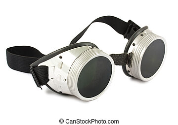 Retro welding goggles isolated on a white background