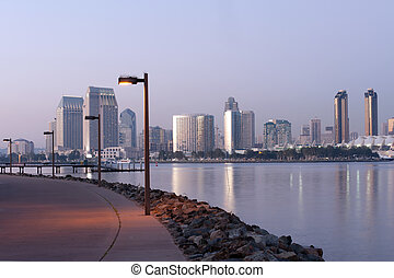 San Diego panorama - Panorama of San Diego at dusk from...