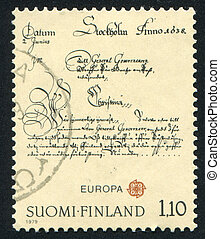 Letter - FINLAND - CIRCA 1979: stamp printed by Finland,...