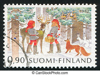Christmas - FINLAND - CIRCA 1982: stamp printed by Finland,...