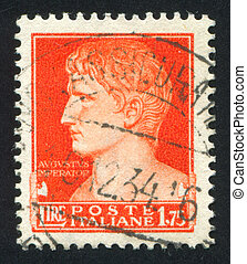 Augustus Caesar - ITALY - CIRCA 1945: stamp printed by...