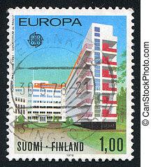 Paimio Sanitarium - FINLAND - CIRCA 1978: stamp printed by...