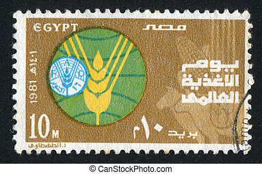 Emblems - EGYPT - CIRCA 1981: stamp printed by Egypt, shows...