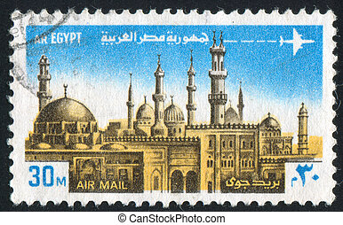 Mosque Minarets - EGYPT - CIRCA 1976: stamp printed by...