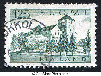 Turku Castle - FINLAND - CIRCA 1961: stamp printed by...