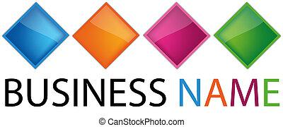 Abstract Rainbow Logo, vector