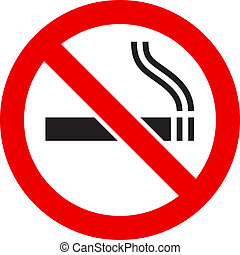 The sign No Smoking - The simple sign No Smoking....