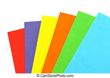 Colorful paper set isolated on white background