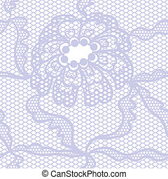 Blue lace vector fabric seamless  pattern