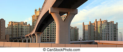 Monorail on Palm Jumeirah, Dubai, UAE