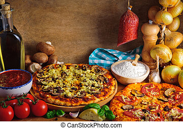 Traditional pizza ingredients