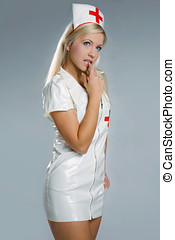 Very sexy woman in kinky nurse outfit - very sexy woman in...
