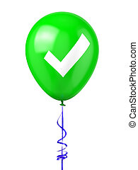 Balloon with Check Mark