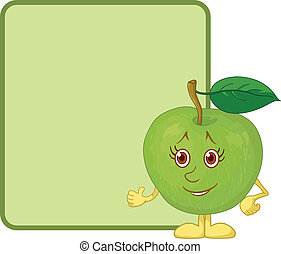 Character apple and poster