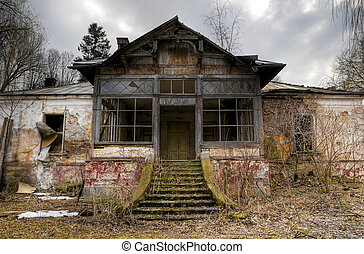 old house - big old abandoned house in transylvania