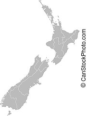 Map of New Zealand - Political map of New Zealand with the...