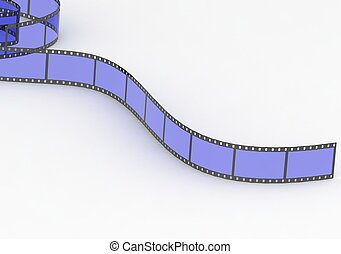 Blue film  - Rendered artwork with white background