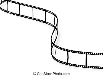 Curve film strip - Rendered artwork with white background