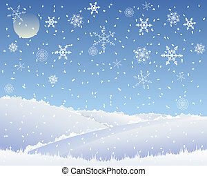 christmas landscape - an illustration of an abstract...