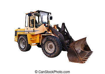 Bull - large bulldozer at the construction site in germany