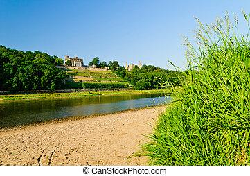Elbe river valley, Germany - Elbe river valley in Dresden,...
