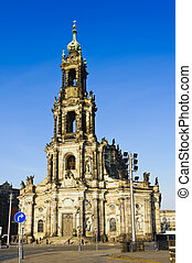hofkirche in dresden, saxony, germany