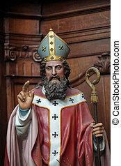 Saint Nicholas Sinterklaas - Statue of Saint Nicholas...