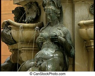 BOLOGNA neptune fountain nymph - The Neptune Fountain in the...
