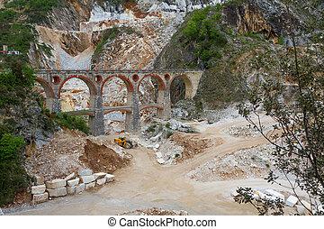 Marble quarry Ponti di Vara near Carrara, Tuscany, Italy