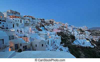 Caldera, Oia, Santorini, Greece - View on the caldera when...