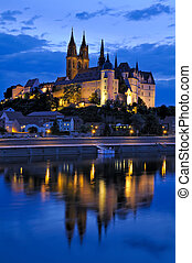 Meissen at night - Ablrechtsburg in Meissen at night with...