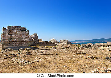 Bulgaria. Nesebr. Ruins of ancient church