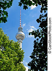 Fernsehturm tv-tower in Berlin - Beautiful view on...