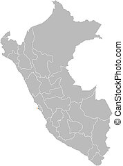 Map of Peru, Callao highlighted - Political map of Peru with...