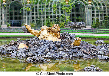 Versailles. Fountain Enkelados (the giant from the Greek...