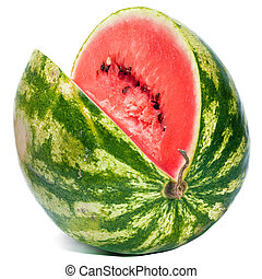 striped ripe water-melon