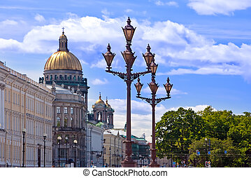 Russia. Petersburg. A view on the  Isaakievsky Cathedral