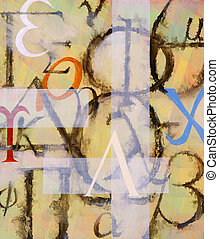It's All Greek To Me - a painting on the motif of the Greek...