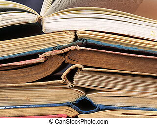 Old Books - a stack of old books