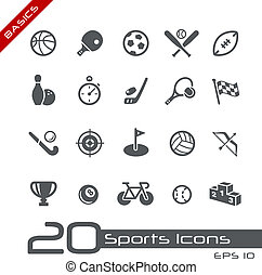 Sports Icons Basics - Vector icons set for your web or...