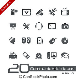 Communication Icons Basics - Vector icons set for your web...