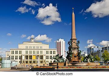 Augustusplatz in Leipzig, Saxony, Germany