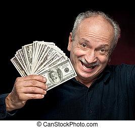 emotional businessman - An elderly happyl businessman...