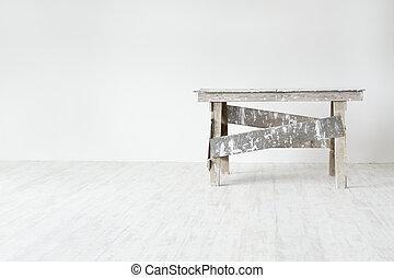 灰色, 公寓,  grunge, 牆, 梯子, 地板, 裝飾,  interior:, 建設, 概念, 白色, 空