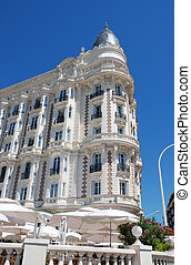 luxurious hotel on the croisette in Cannes