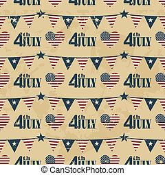 Independence Day Background - Seamless pattern design for...