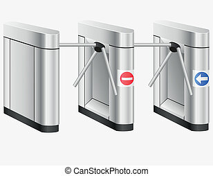 turnstile vector illustration isolated on white background