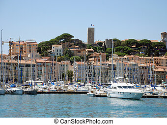 yacht port Cannes - The Yacht port of Cannes (south france)