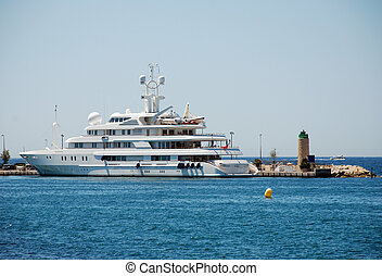 Super Yacht in the sea near Cannes